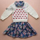 心形毛衣绣图案宝宝毛衣编织视频(2-2)