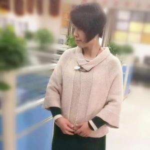 云暖毛线球款女士粗针织披肩开衫