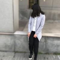 简约女士棒针中长款春秋开衫毛衣视频教程(3-3)