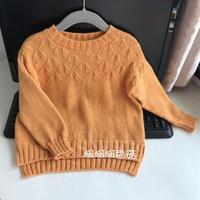 简单实用时尚无缝合款儿童棒针直袖毛衣