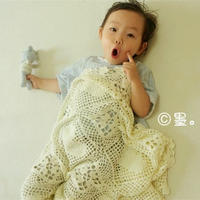 爱心小童毯 牛奶棉甜美钩针拼花毯