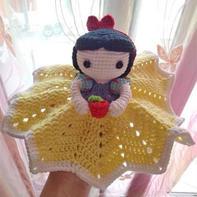 萌可爱白雪公主宝宝钩针安抚巾