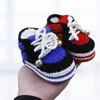 左手钩编耐克宝宝高帮加棉运动鞋编织视频(3-3)宝宝鞋加棉内衬的方法