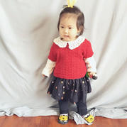 可爱宝宝春秋款花边领钩针短袖罩衫