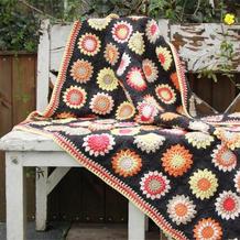 一款超级好看又好钩的钩针拼花毯