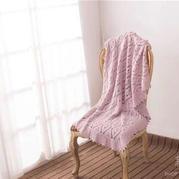 钩针菱形盖腿毯宝宝毯编织视频教程(2-2)