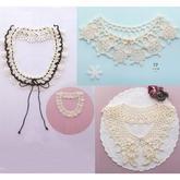 小清新森女系甜美鉤花蕾絲飾領 3款鉤針領飾編織圖解