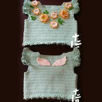 送宝宝爱的礼物 儿童钩针天使花朵背心