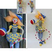 有趣的钩针小丑女娃娃玩偶图解