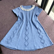 家用编织机868机织六片裙 春暖花开儿童连衣裙