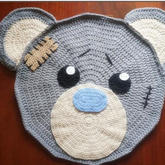 萌萌哒钩针流浪熊地毯编织视频教程