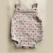 萌可爱婴幼儿春夏款棒针连体背带裤