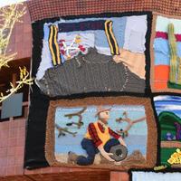 70余位艺术家及编织爱好者用毛线编织加州印象