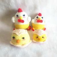 毛线玩具钩法教学视频教钩可爱小鸡玩偶(2-2)