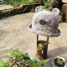 可爱儿童钩针小耳朵棉草帽子