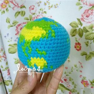 趣味毛线编织娃娃家钩针地球图解