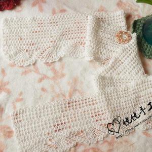 野蔷薇 女士钩针春夏蕾丝小围巾
