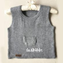 织法超简单的漂亮宝宝中性款棒针背心