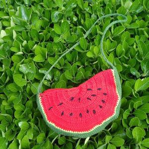宝宝零食包 可爱西瓜造型儿童钩针斜挎包
