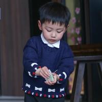 中性款文艺范儿童棒针毛衣编织视频教程(2-1)