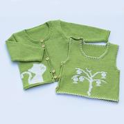 新生儿棒针开衫背心套装编织视频(4-1)宝宝开衫毛衣织法1
