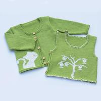 新生儿棒针开衫背心套装编织视频(4-2)宝宝开衫毛衣织法2