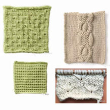 编织毛衣可以用到的简单实用棒针小花样