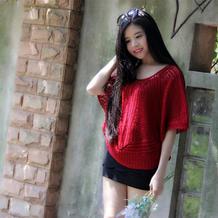 云帛Ⅱ玫瑰红女士钩针套头衫