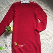 内搭外穿都可以的女士棒针长款羊绒衫