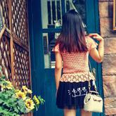 女士夏季鉤針蕾絲罩衫編織視頻教程(3-2)