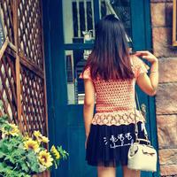女士夏季钩针蕾丝罩衫编织视频教程(3-2)