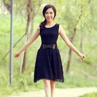 小黑裙 女士菠萝花钩针背心裙