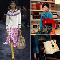 百年品牌西班牙LOEWE2017时装周中的毛线编织元素(含男女毛衣及包包)