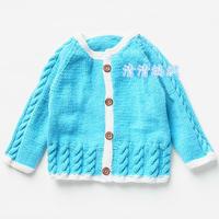 漂亮宝宝棒针开衫毛衣从上往下织编织视频教程(2-1)