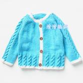 漂亮宝宝棒针开衫毛衣从上往下织编织视频教程(2-2)
