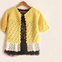 鱼籽的长款开衫柠檬树 适合3-6岁儿童的毛衣外套款式图解真人秀