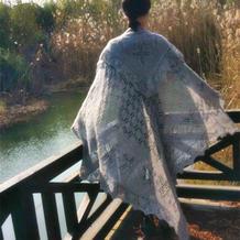 具有贵族气质的皇太子披肩 爱沙尼亚哈普萨鲁棒针蕾丝编织方形大披肩