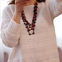 不一样的低调 KIM设计款萌芽女士棒针直袖毛衣