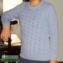 第二届编织大赛棒针组作品 一件羊绒线织的衣服