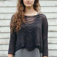 编织技巧图解教程详解欧美女士棒针宽松罩衫