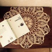 床头柜的夏衣 云帛Ⅱ米金钩针小桌布