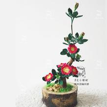 毛线钩花金樱子编织图解教程 精美写实钩针花卉