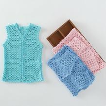 1-6岁宝宝钩针开衫小马甲编织视频教学(2-1)
