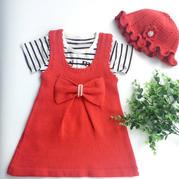儿童背心裙套装编织视频教程(3-2)蝴蝶结背心裙织法