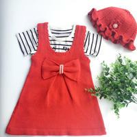 儿童背心裙套装编织视频教程(3-3)钩针荷叶帽钩法