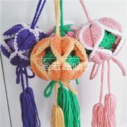 毛线钩针编织绣球香囊教程