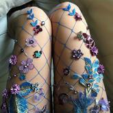 各式手工材料让2017流行渔网袜更是美上天
