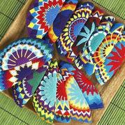 毛線編織色彩的游戲 Wayuu鉤針提花圖案