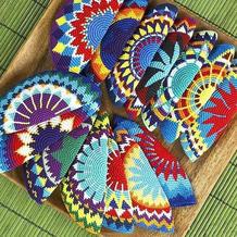 毛线编织色彩的游戏 Wayuu钩针提花图案