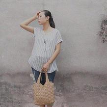 森女风 钩针水草花纹棉草包包